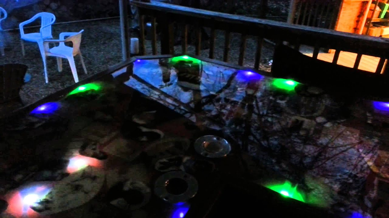 Bar And Beer Pong Table With Led Lights In Top