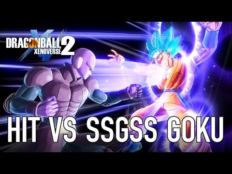 Hit vs SSGSS Goku Gameplay Trailer! TIME-SKIP ULTIMATE ATTACK!! | Dragon Ball Xenoverse 2