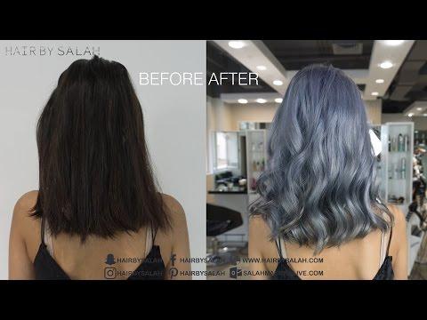 Silver Gray Hair Color - Color Melting Technique