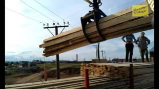 Как работает урал фискар (гидроманипулятор) / How does Ural Fiskars (hydraulic crane).avi