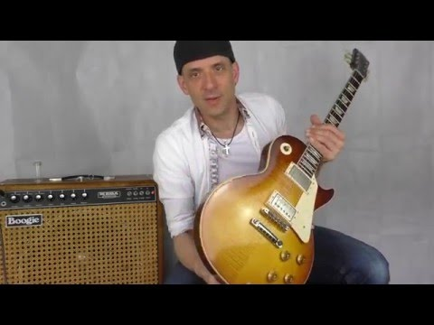 Try to get the Santana sound with a1959 Gibson Les Paul and Mesa Boogie Mark 1