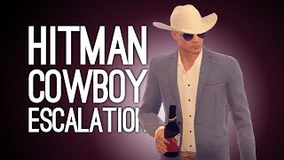 Hitman Cowboy Escalation: STRIKER HAND CANNON (Let's Play The Dexter Discordance)