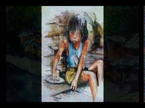 SOCIAL REALISM.. A slideshow of oil, acylic and watercolor paintings done by Dante Luzon