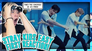 "FIRST TIME REACTING TO Stray Kids ""Easy"" M/V![REACTION]"
