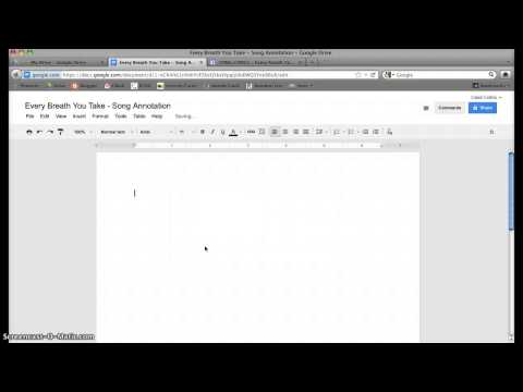 Song Annotation using Google Drive