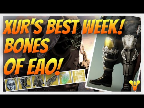 Destiny Xur's Best Stash In Weeks! BONES OF EAO, Eternal Warrior, Voidfang Vestments & Last Word.
