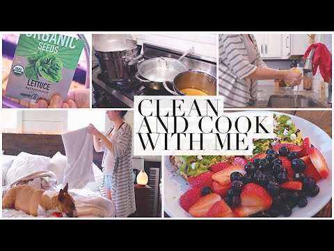 ALL DAY Clean & Cook With Me! Second Trimester Pregnancy: Fall 2019