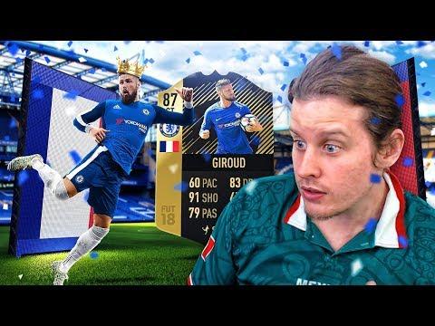87 INFORM CHELSEA GIROUD! THE KING OF LONDON! FIFA 18 ULTIMATE TEAM