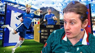 87 INFORM CHELSEA GIROUD! THE KING OF LONDON! FIFA 18 ULTIMATE TEAM