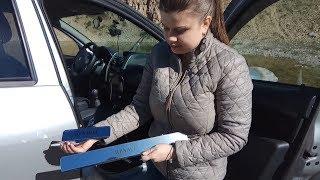видео Накладки на пороги Рено Логан 2014 из нержавейки. Купить порожки с доставкой по России