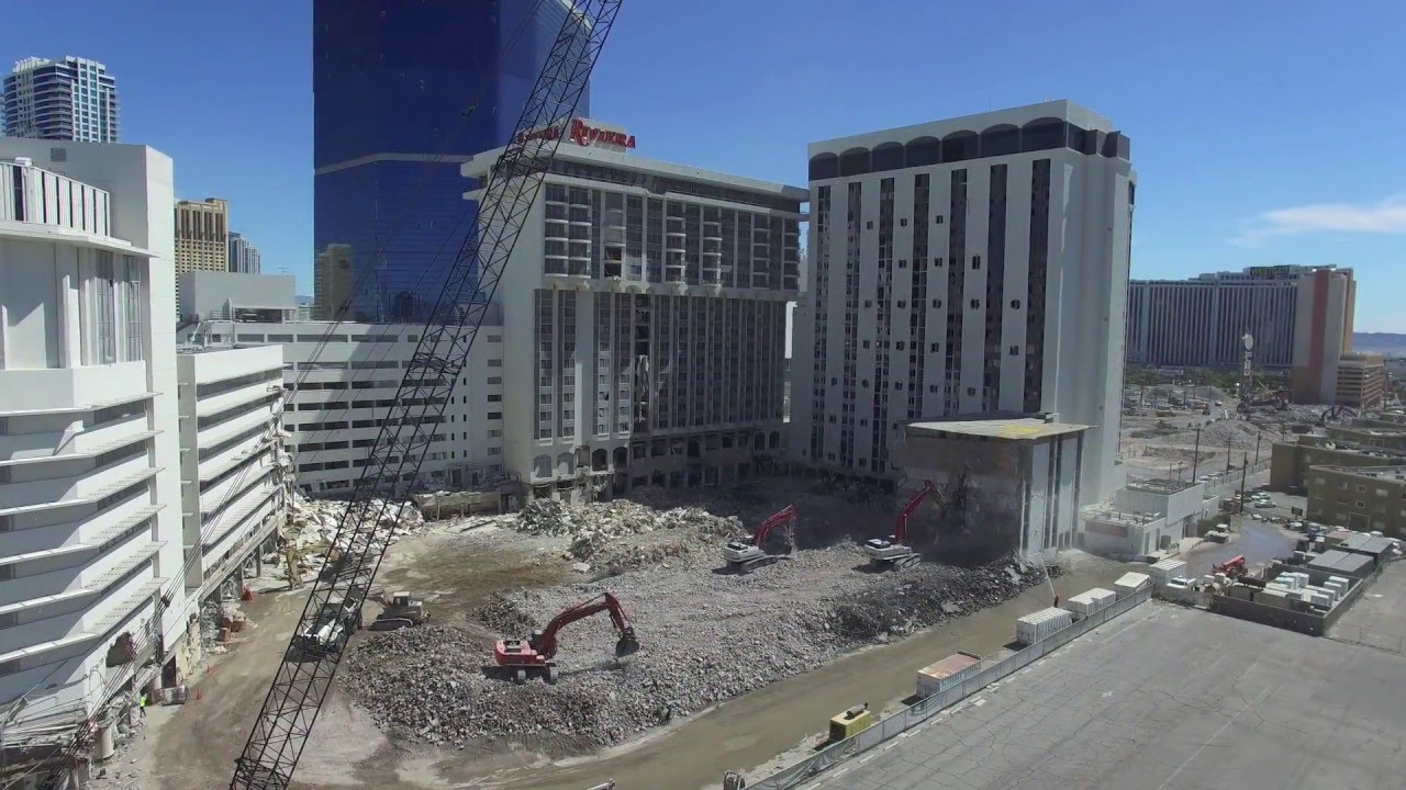 Riviera las vegas demolition update may 18 2016 youtube for Riviera resort las vegas