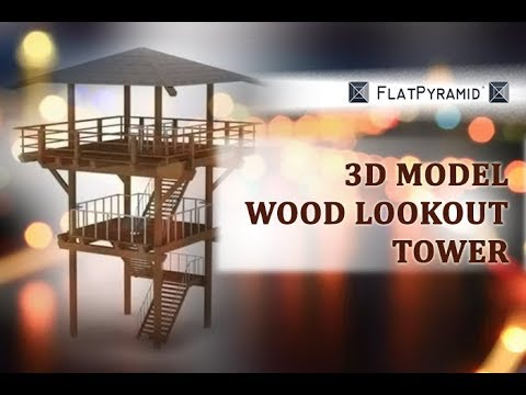 3d model wood lookout tower review youtube for Building a lookout tower