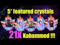 MCOC 21x featured 5* crystals opening - 21x Kabammed