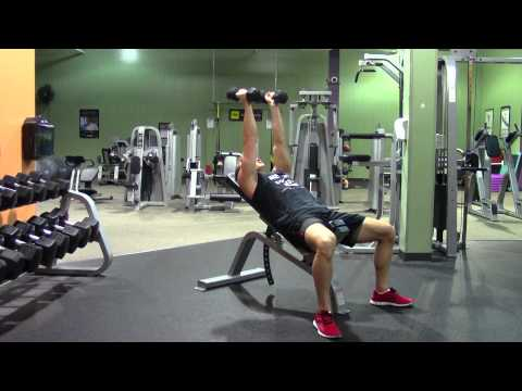 Incline Dumbbell Triceps Extension - HASfit Triceps Exercise Demonstration - Tricep Extensions