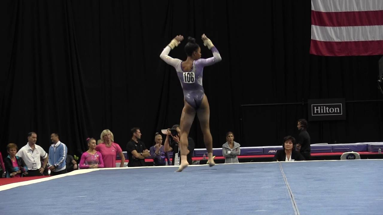 floor gymnastics gabby. Gabby Douglas - Floor Exercise 2016 P\u0026G Gymnastics Championships \u2013 Sr. Women Day 2 YouTube U
