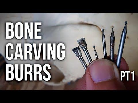 Bone Carving Burrs Tutorial Part 1 (Inverted Cone Burr)!