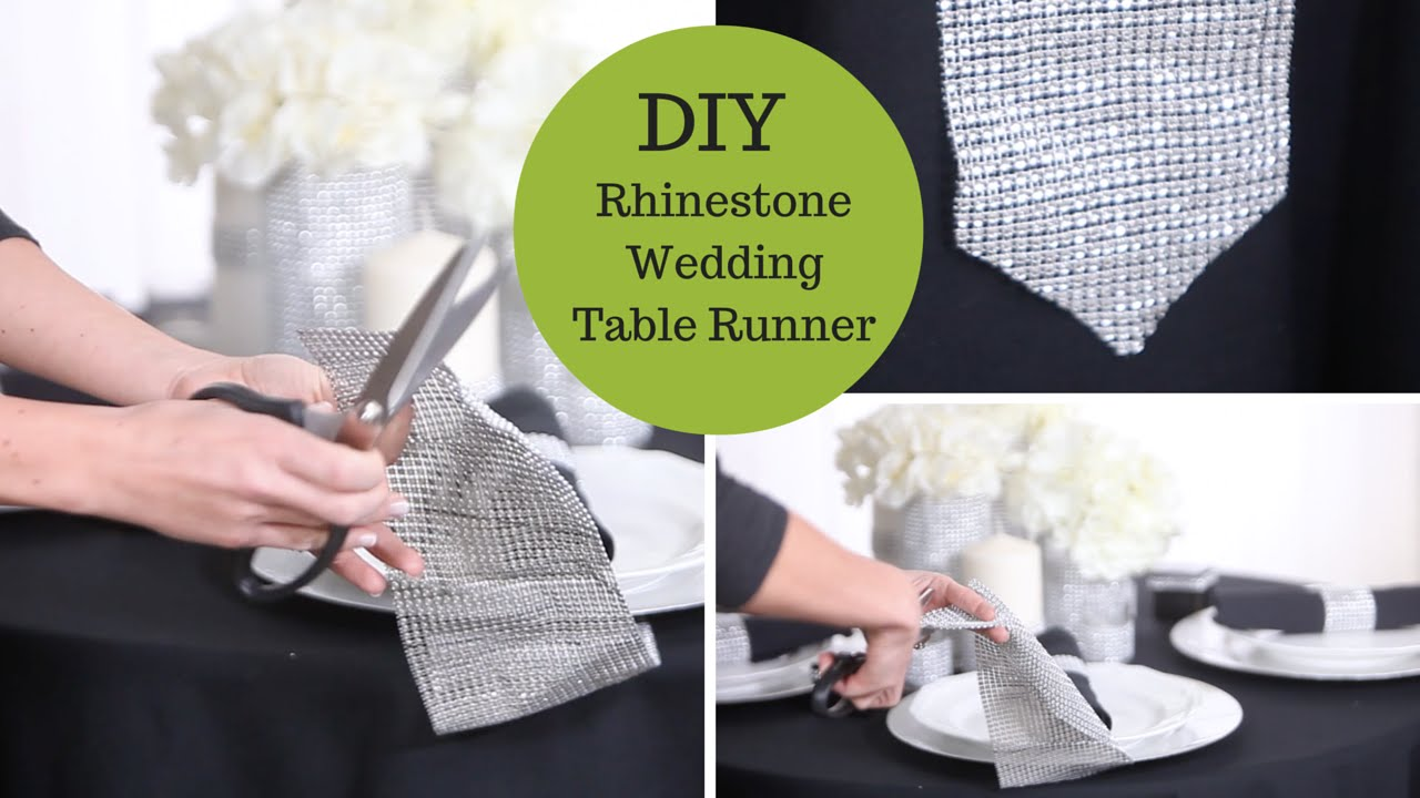 Wonderful Wedding Decoration Ideas A Rhinestone Table Runner An Easy DIY Wedding  Tutorial   YouTube