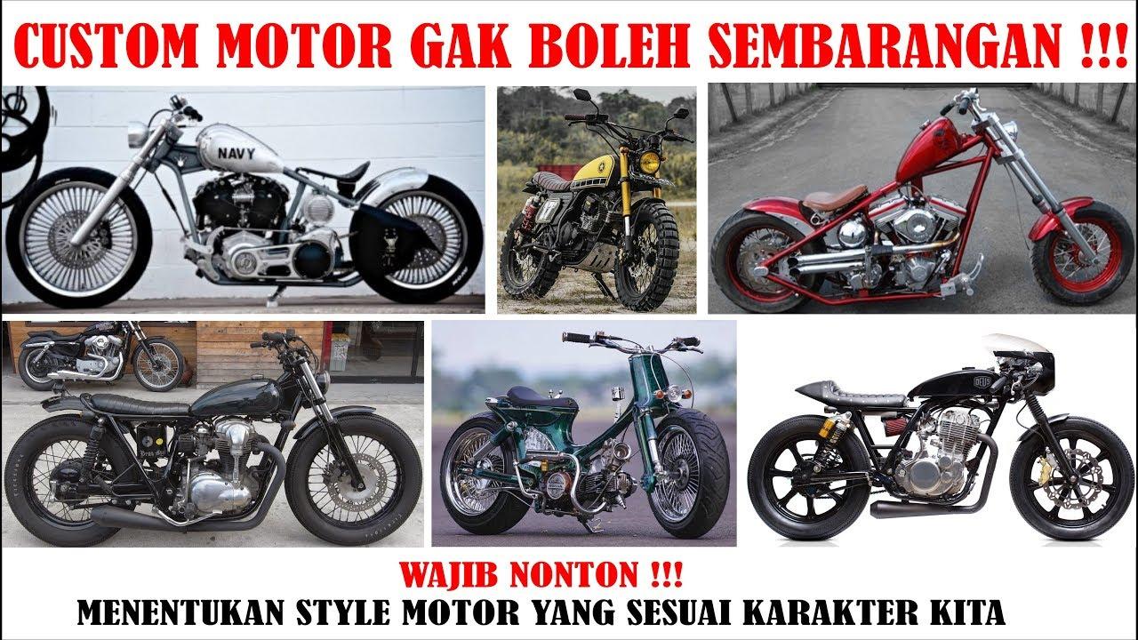 Memilih Style Motor Custom 12 Jenis Style Motor Custom Tentukan Pilihanmu Gaess Youtube