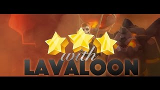 Clash Of Clans New Th9 Penta LaLoon Attack with 7 Haste war Attack