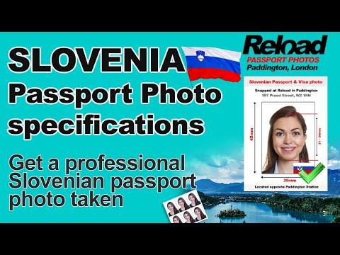 Slovenian Passport Photo and Visa Photo snapped in Paddington