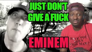 SLIM SHADY YOU'RE DISREPECTFUL BOY!! EMINEM - JUST DON'T GIVE A FUCK   Reaction #Eminem #SSLP