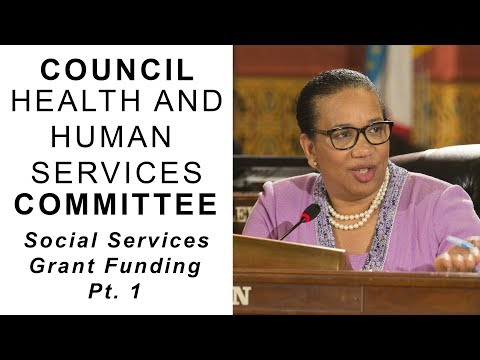 Council Health & Human Services: Social Services Grant Funding Pt. 1