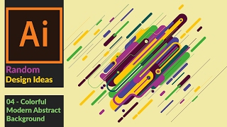 How to Create a Colorful Modern Abstract Vector Illustration in Adobe Illustrator