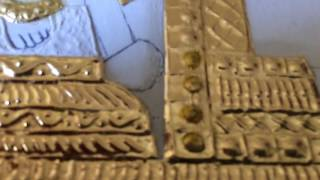 Tanjore Painting - How to remove gold foils around the stones