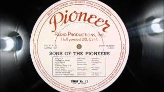 BISCUIT BLUES by the Sons of the Pioneers   1946 Radio Transcription
