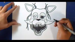 """Fácil"" Cómo dibujar a Mangle ""Five Nights at Freddy´s"" | How to Draw Mangle"