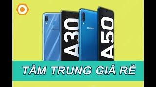 Samsung A30, A50 có vân tay dưới màn hình, pin trâu, 3 camera sau!