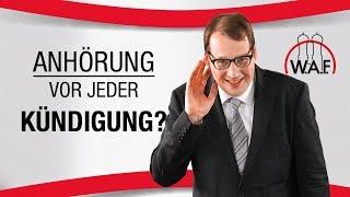 Betriebsrat anhören vor jeder Kündigung? Arbeitgeberpflicht? | Betriebsrat Video