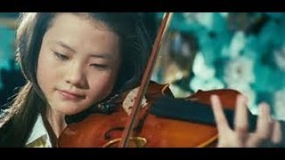 Me (Wenwen Han) play violin in The Karate Kid