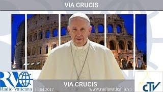 O Papa Francisco preside a Via Sacra da Sexta-feira Santa.
