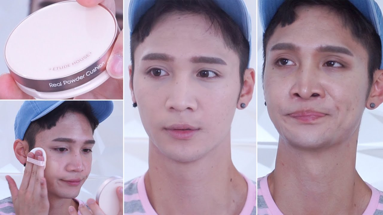 New Etude House Real Powder Cushion Foundation Review Edward Ac Clean Up Bb Natural Beige Avila Youtube