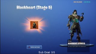 NEW UNLOCKING BLACK HEART Stage 5 on Fortnite Battle Royale Season 8