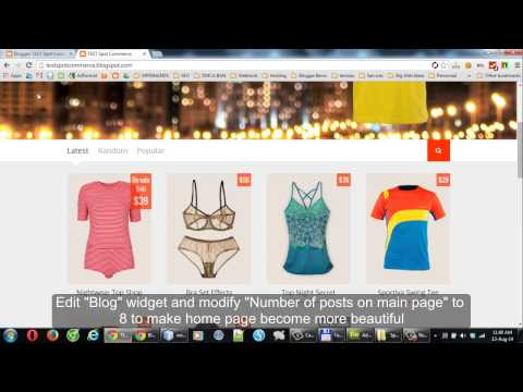 SpotCommerce - Shopping Blogger Template Walk-through