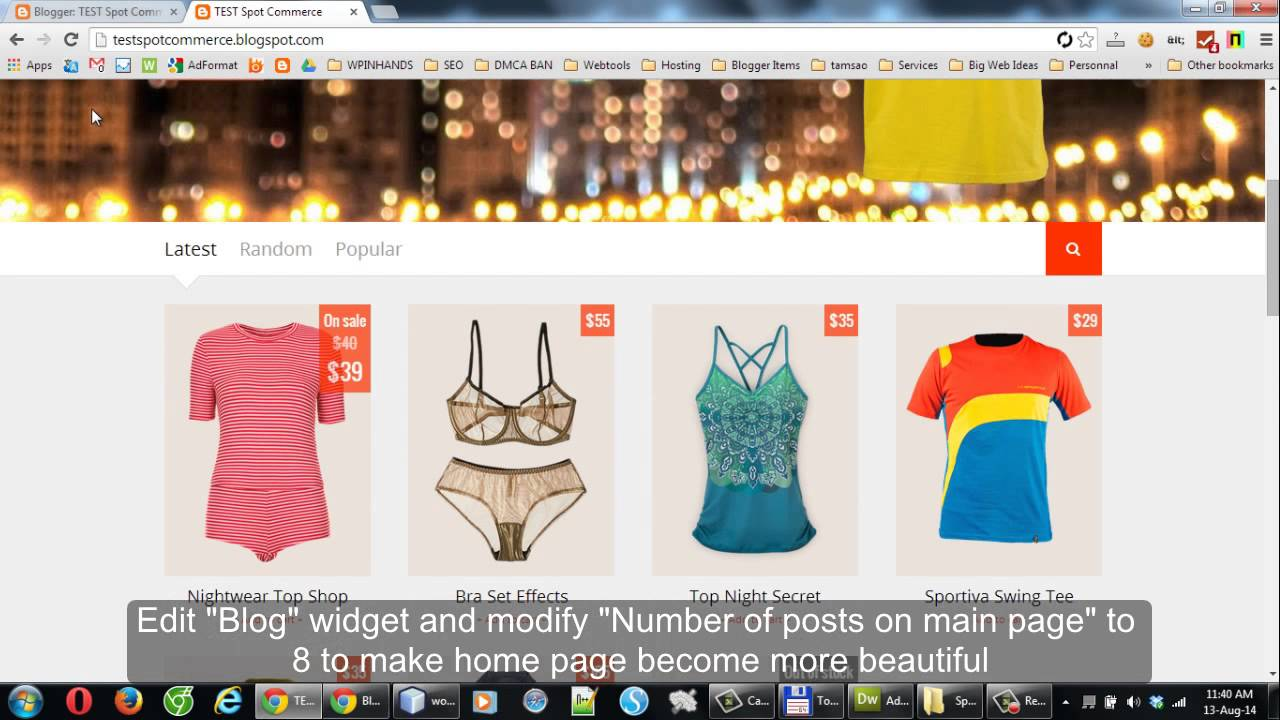 SpotCommerce - Shopping Blogger Template Walk-through - YouTube