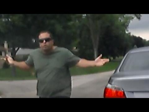 MT PROSPECT CRAZY  BMW  DRIVER THREATENS CITIZENS    PART 2