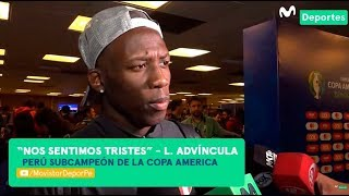 Luis Advíncula: su reacción tras quedar segundo en Copa América 2019 | BRASIL 3-1 PERÚ