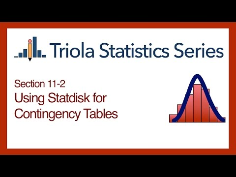 Statdisk Section 11-2: Using Statdisk for Contingency Tables