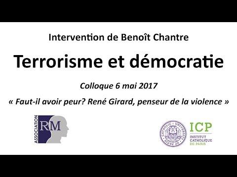 """Conférence de Benoît Chantre """"Terrorisme et démocratie"""" mai 2016"""