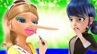 Marinette with Chloe Mistakes MAKEUP in BEAUTY competition! Ladybug Tale