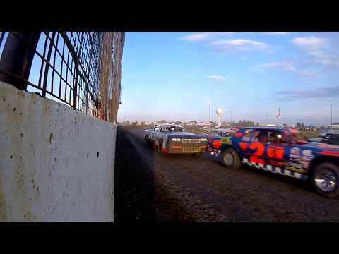 Sheyenne River Speedway 8-6-2017 - GoPro Wall CAM - Street Stocks Feature Race