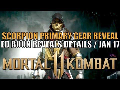 Mortal Kombat  New Primary Scorpion Gear / Ed Boon Reveals about January  / Box Art / Gameplay