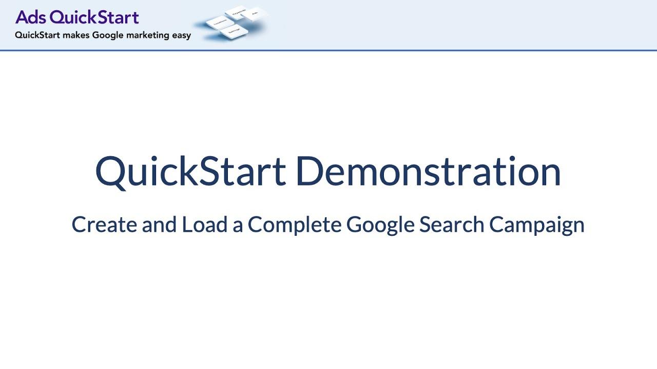 QuickStart Demonstration Video (updated on: 07/13/2020)