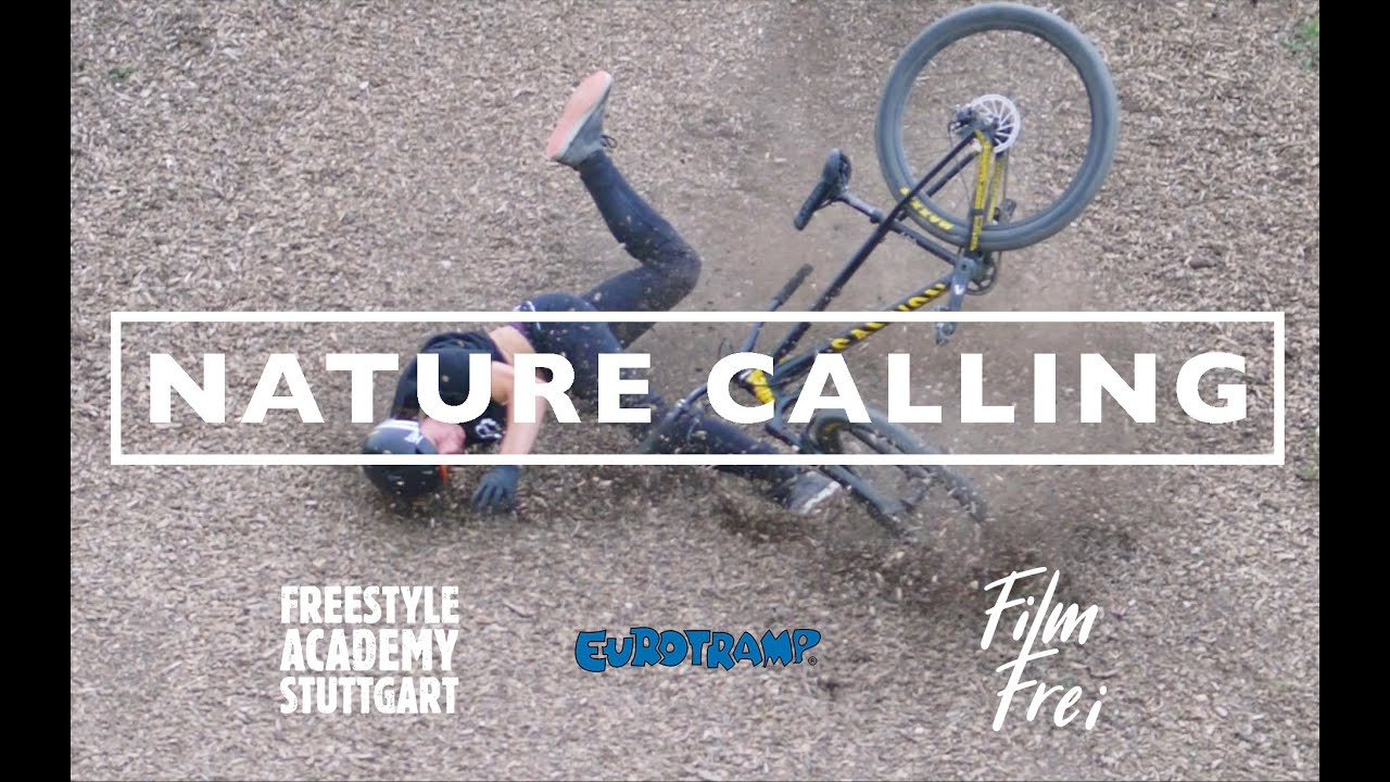 Nature Calling a Trampoline and Bike movie