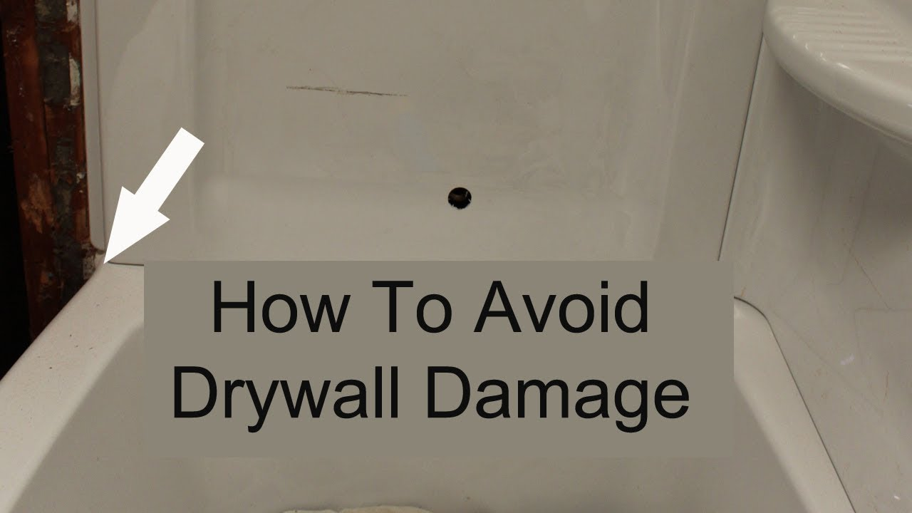 Watch This Video Before Installing Bathtub And Shower Surrounds U2013 Drywall  Damage Prevention