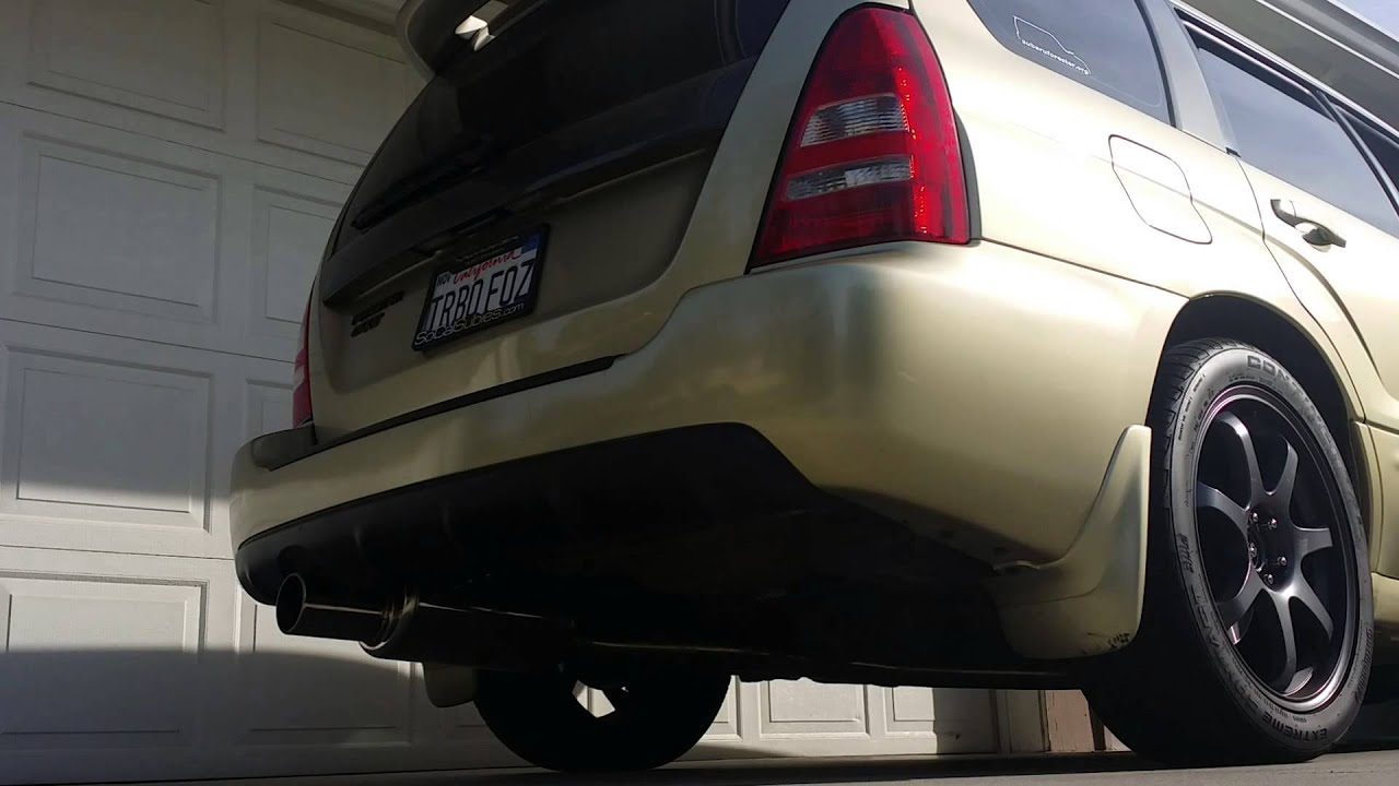 Subaru Forester Xt With Invidia G200 Catback Exhaust Rev
