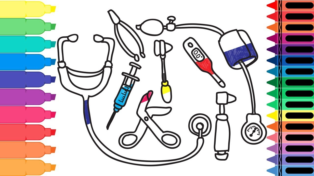 how to draw doctor medical kit  drawing a doctor's tools